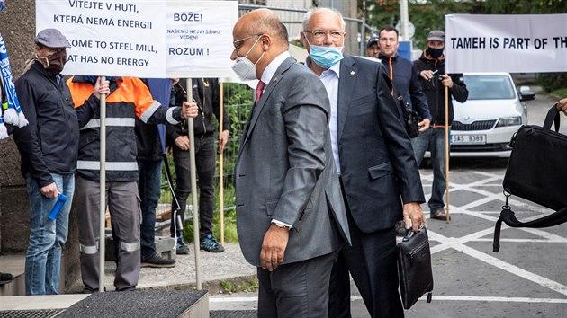 Protest odborářů huti Liberty Ostrava proti postupu vedení firmy. (28. května 2020)