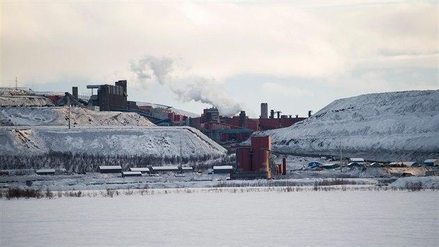 Důl u města Kiruna v severním Švédsku