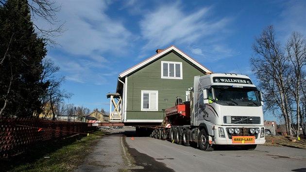 Stěhování domů ve severošvédském městě Kiruna