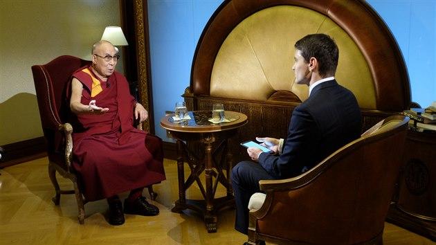 Dalajlama a Daniel Stach v pořadu Hyde Park Civilizace (22. října 2016)