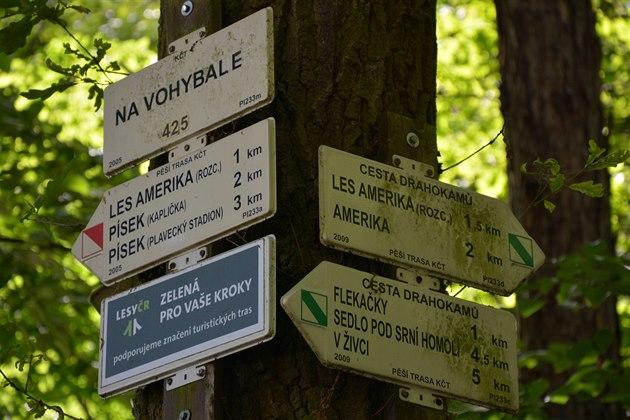 Les Amerika je oblíbeným místem pro procházky.
