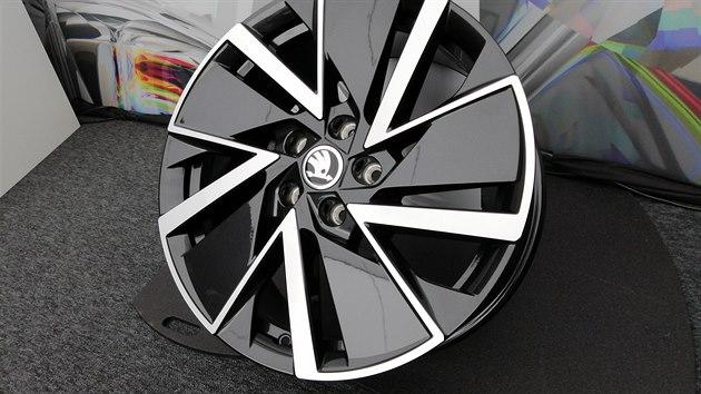 Speciální ráfky optimalizované pro co nejnižší aerodynamickı odpor pro novou octavii.