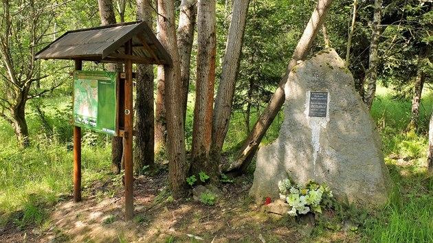 Poslední zbytky osady Smrkovec ve Slavkovském lese