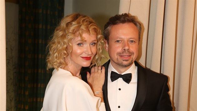 Anna Geislerová a Viktor Dvořák na premiéře filmu Havel (Praha, 21. července 2020)