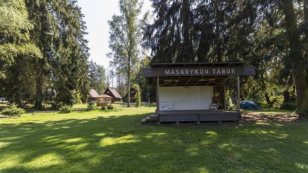 Masarykův tábor YMCA u Soběšína, kde policisté pátrají po dvou pohřešovanıch chlapcích. (6.8.2020)