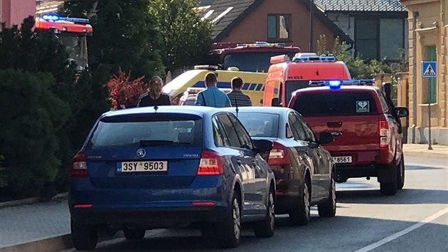 Zásah IZS u požáru domova pro seniory ve Mšeně na Mělnicku. (13. srpna 2020)