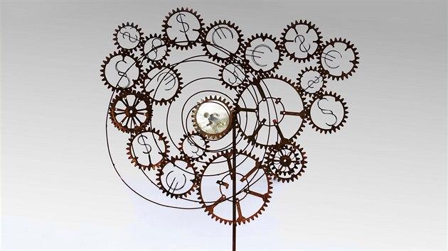 Moje zpověď - jedno z děl karlovarského sochaře Tomáše Dolejše.