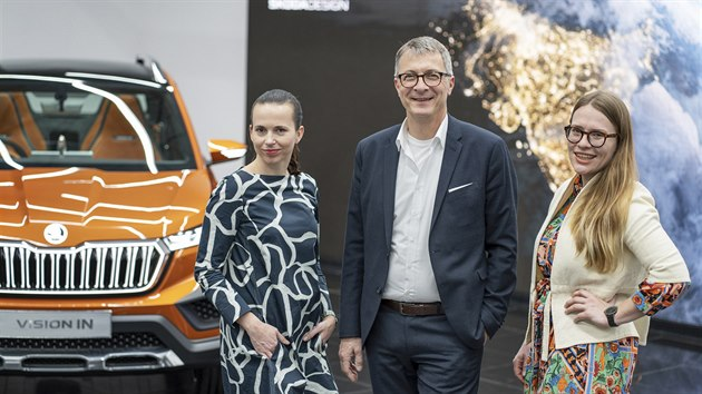 Caroline Liehrová (vpravo) a Kateřina Vránová a Norbert Weber