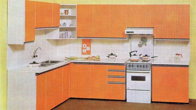 """Vladimír Štekla: Kuchyň typu """"Asta"""", 1975"""