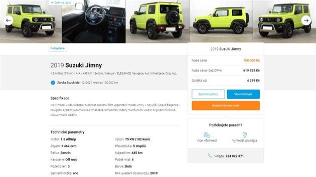Suzuki Jimny za 750 tisíc korun v nabídce AAA Auto