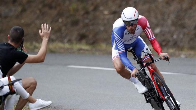 Thibaut Pinot během časovky na Tour de France.