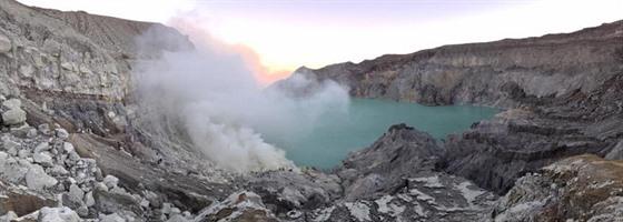 Navštívit Ijen Lake byl Eričin sen z dětství.