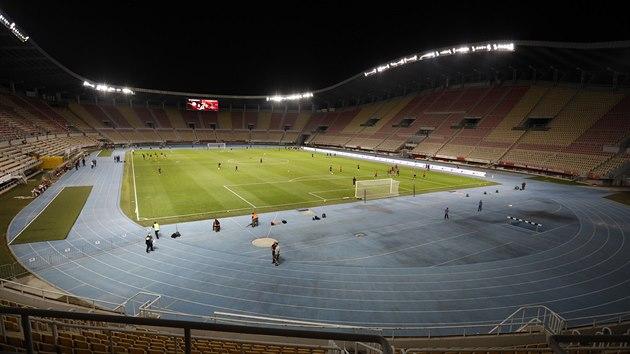 Národní stadion Todora Proeskiho ve Skopje, Severní Makedonii.