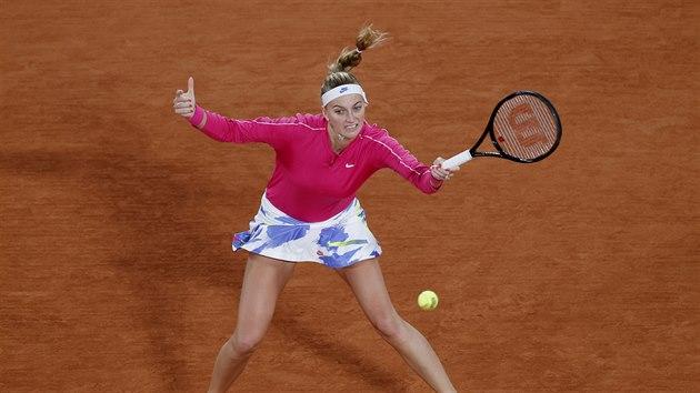Petra Kvitová během prvního kola Roland Garros.