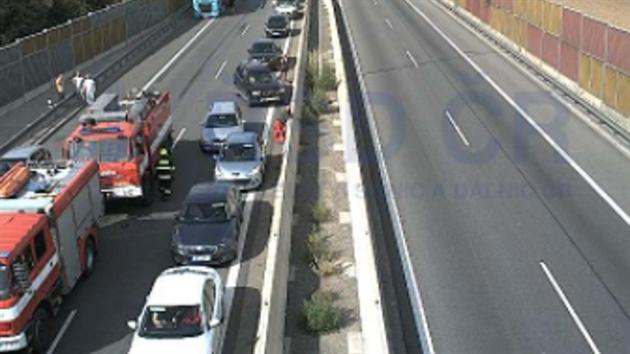 Nehoda na dálnici D1 u Brna
