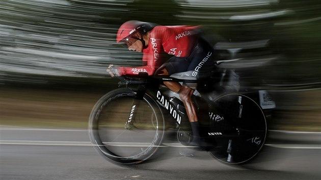Nairo Quintana z tımu Arkéa-Samsic v časovce na Tour de France.