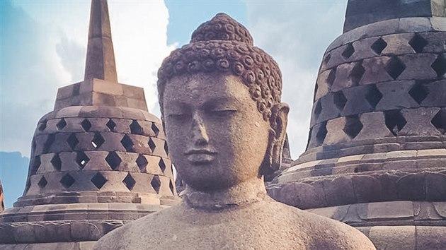 Borobudur, ostrov Jáva