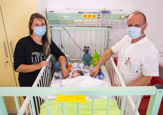 Dvouměsíční Daniel podstoupil unikátní operaci srdce, kdy mu lékaři...