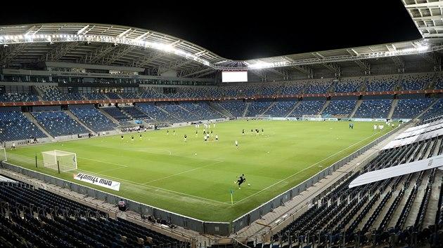 Pohled na stadion v izraelské Haifě, kde se domácí reprezentace střetne s Českem.