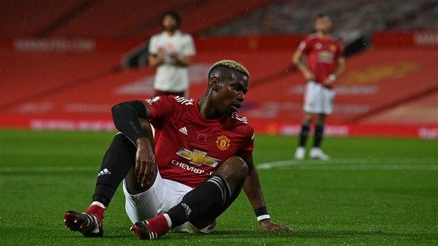 Reakce Paula Pogby poté, co v zápase Manchesteru United proti Arsenalu zavinil pokutovı kop.