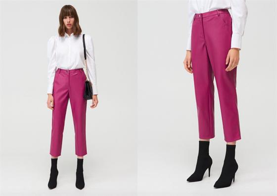 Koženkové oblečení je vskutku nápaditě, zvláště pak v kombinaci zkrácené délky...