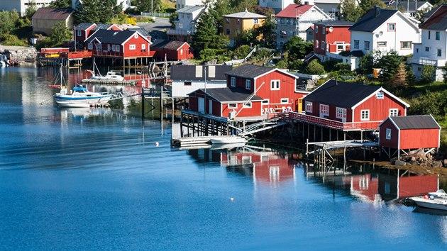 Malebná norská rybářská vesnice