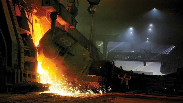 Provoz ocelárny v huti Liberty Ostrava.