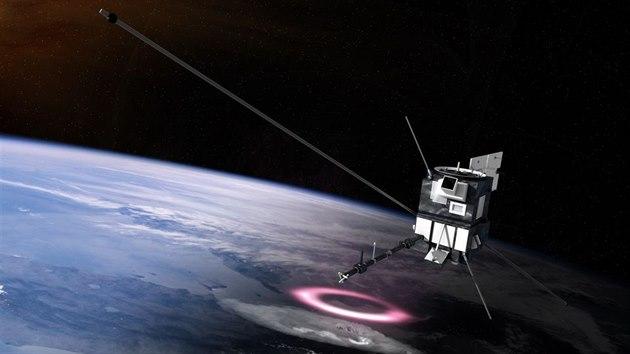 Ilustrace sondy Taranis ve vesmíru