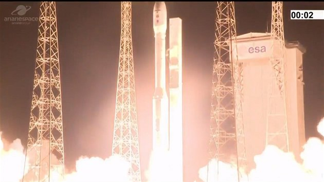 Start rakety Vega k misi VV17