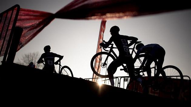 Momentka z cyklokrosového závodu SP v Táboře