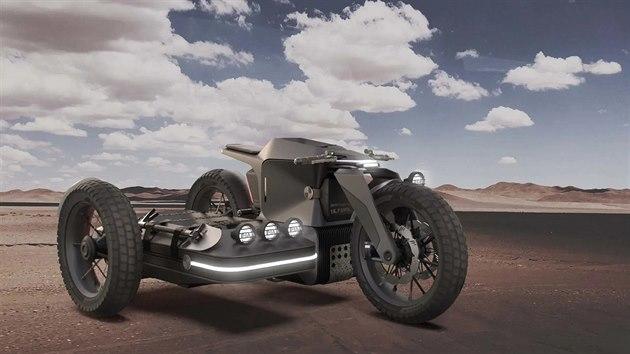 Koncept BMW elektromotocykl se sajdkárou