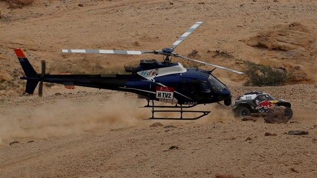 Stephane Peterhansel v páté etapě Rallye Dakar.