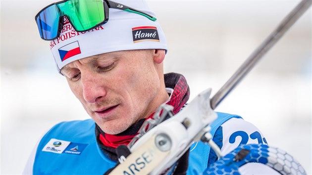 Ondřej Moravec během sprintu v Oberhofu.