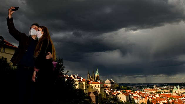 Z vıstavy Fragmenty metropole fotografa Romana Vondrouše - Strahovskı klášter (2020)
