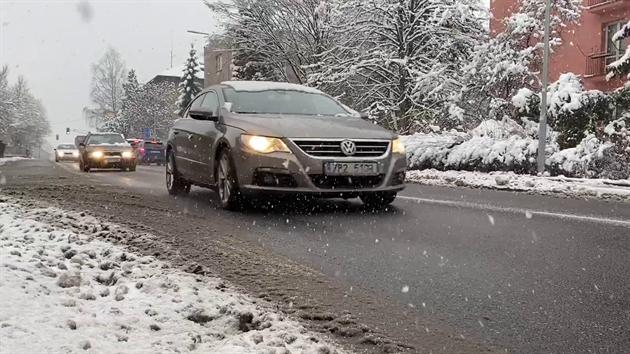 Dopravní situace v Rychnově nad Kněžnou. (13. 1. 2021)