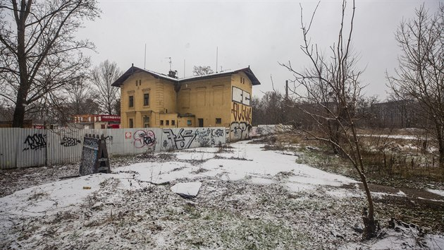 Bıvalé Dolní nádraží na Palmovce, Praha - Libeň (13. ledna 2021)