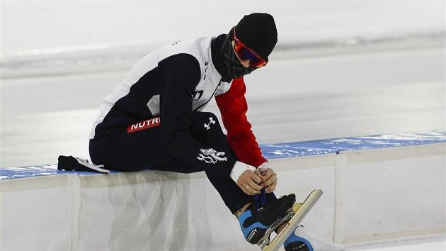 Martina Sáblíková na mistrovství Evropy ve víceboji v Heerenveenu.