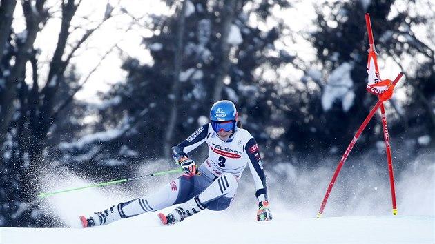 Michelle Gisinová v obřím slalomu v Kranjské Goře.