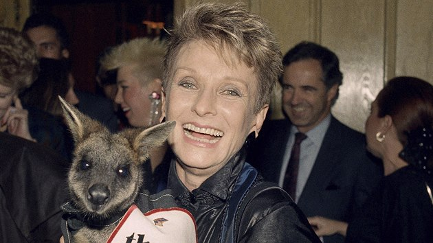 Americká herečka Cloris Leachmanová na snímku z roku 1987