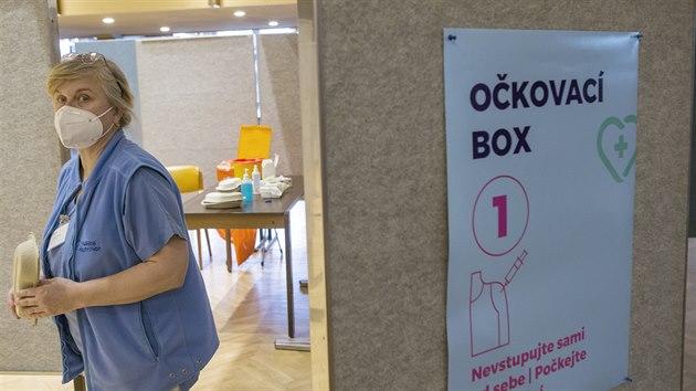 V klatovském kulturním domě je nově v provozu očkovací centrum. Senioři se zde mohou nechat naočkovat proti nemoci covid-19. (26. 1. 2021)