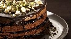 Čokoládový dortík s lískovými oříšky