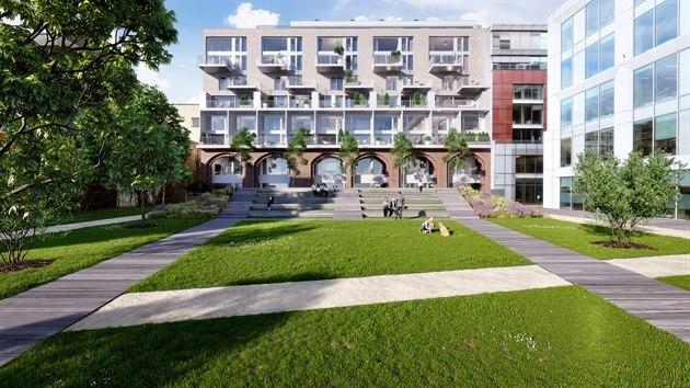 Rezidence Dva Domy vzniká nedaleko oblíbeného Karlínského náměstí