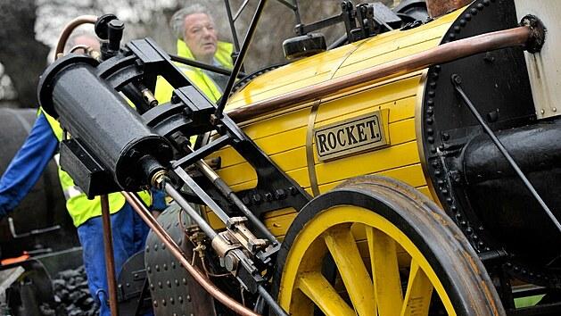 Stephensonova parní lokomotiva Rocket