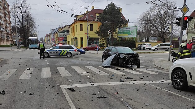 Nehoda se stala na Lidické třídě nedaleko českobudějovické nemocnice.