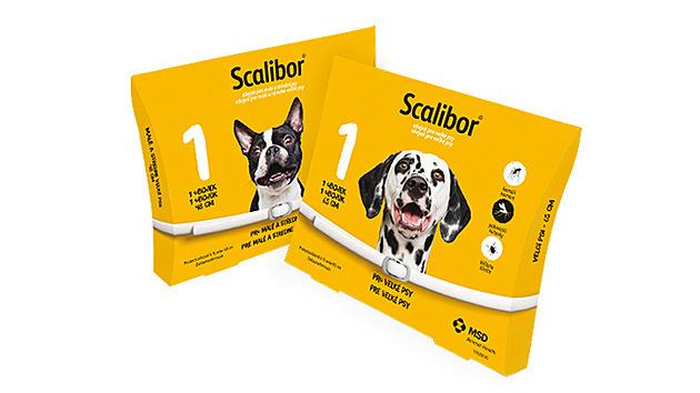 Scalibor je antiparazitární obojek pro psy obsahující účinnou látku deltametrin.