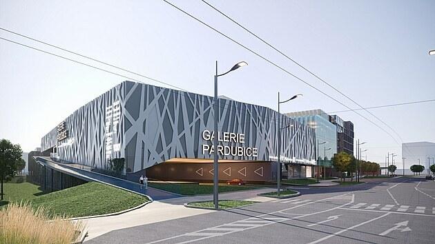 Součástí Galerie Pardubice by mělo bıt parkování pro 1 200 aut.
