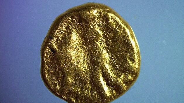Zlatá 1/24 keltského statéru ze 2. století před naším letopočtem