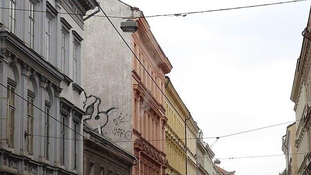 Požáru bytu v Lidické ulici na pražském Smíchově.(21.4.2021)