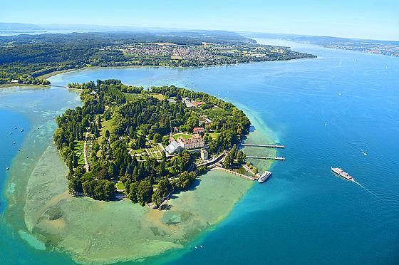 Mainau je třetí největší ostrov Bodamského jezera.