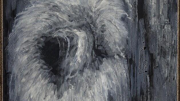Z vıstavy Toyen: Snící rebelka: Hlas lesa III, 1934